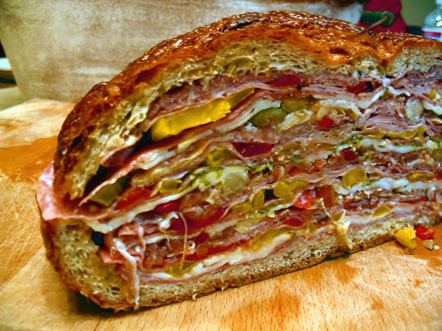 ... is the ULTIMATE SANDWICH! Every type of Italian deli meat. Insane